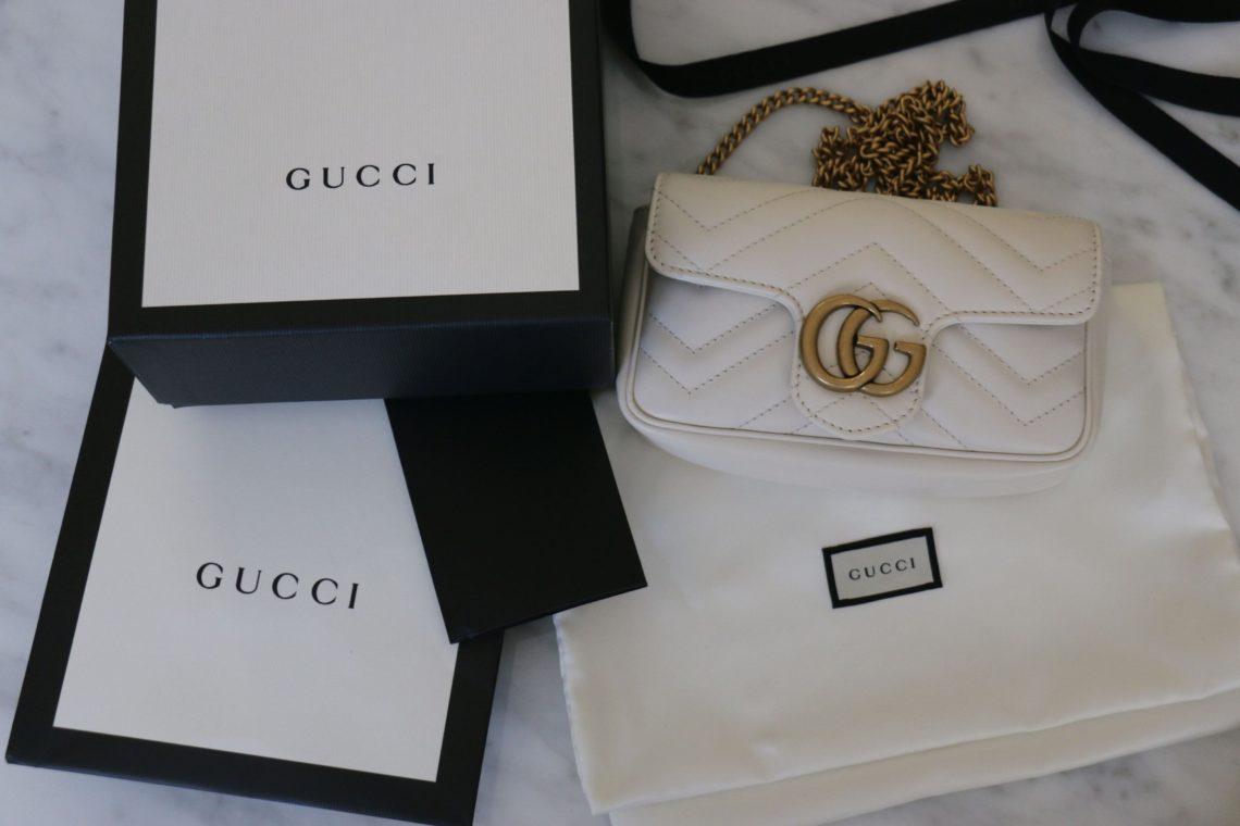1655377b New Summer Bag: White GG Marmont Matelassé Leather Super Mini Bag ...